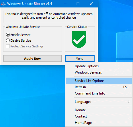 Windows Update Blocker v1.4 – Chặn cập nhật Windows hiệu quả